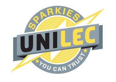 Unilec electricians logo & byline